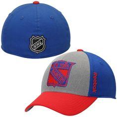56555e07d48 Mens New York Rangers Reebok Royal Blue Travel   Training Tri-Blend Flex Hat