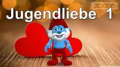 Jugendliebe...♥♥ Schlumpf & Schlumpfine - Smurf & Smurfette ♥♥Zum ♥#Valentinstag #Video♥Gruß an die #Liebe kostenlos schicken App von #Zoobe ♥
