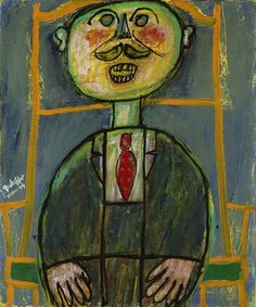 Jean Dubuffet  French, 1901–1985, Little Sneerer.    Love the title of the painting..