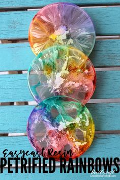 Alcohol Ink Art Rainbow Resin Coasters DIY!