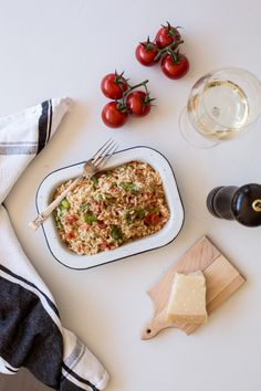 Risotto with Vine Ripened Tomatoes & Asparagus http://www.what-to-cook ...