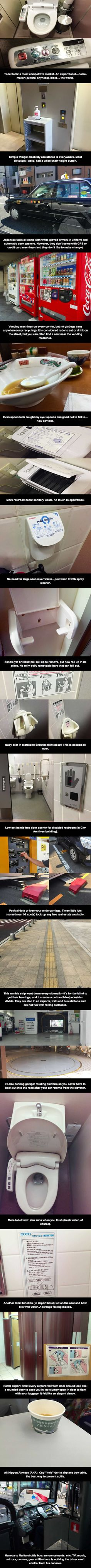 A man visited Japan once... decided to detail the lesser known facilities there - 9GAG