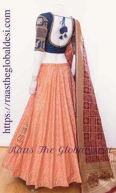 Shop Chaniya choli - handmade chaniya choli , ghaghra choli at afordable price Lehenga Saree Design, Lehenga Gown, Lehenga Choli Online, Indian Lehenga, Lehenga Designs, Ethnic Sarees, Lehenga Blouse, Bridal Lehenga, Anarkali