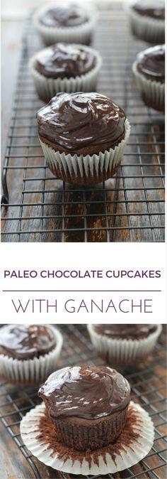 Paleo Chocolate Cupcakes with Ganache - 24 Carrot Kitchen