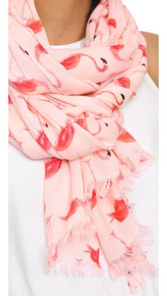 Kate Spade New York Flamingo Scarf