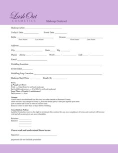 makeup artist contract template - - Yahoo Image Search Results | Fit ...
