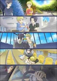 Imagen de naruto, yaoi, and sasuke - Asuke Chan - yaoi-blcd Naruto And Sasuke, Anime Naruto, Naruto Comic, Naruto Cute, Naruto Shippuden Anime, Kakashi, Sasunaru, Himawari Boruto, Narusasu