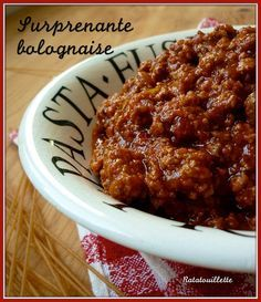 Surprenante sauce bolognaise