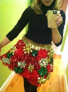Tacky Christmas skirt