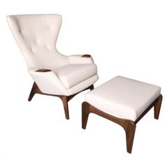1960's Lounge chair and ottoman by Adrian Pearsall