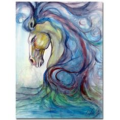 Artist Canvas, Abstract Canvas, Abstract Print, Canvas Wall Art, Canvas Prints, Painting Prints, Art Prints, Painting Canvas, Blue Horse