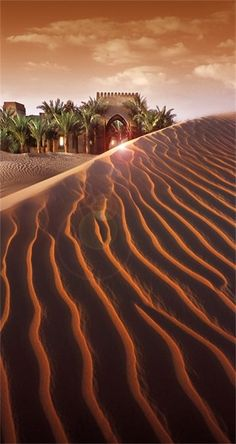 Bab Al Shams. Situated in the heart of the desert and nestled in the dunes of Dubai, UAE, Bab Al Shams Desert Resort & Spa is the ultimate luxury retreat. Desert Dream, Desert Life, Beautiful World, Beautiful Places, Desert Resort, Deserts Of The World, Belle Photo, Wonders Of The World, Places To See