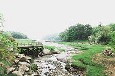 foggy morning photograph, nature water photo gloucester massachusetts art large…