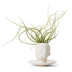 Wig vases by Tania Da Cruz