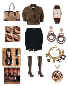 """Untitled #215"" by edatgirl on Polyvore featuring Veronica Beard, Pleaser, Suzy Levian, Piaget, Orla Kiely and Gucci"