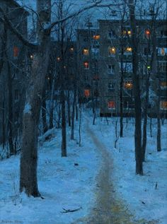 """ Evgeny Lushpin, Twilight, 2000, oil on canvas """