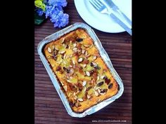 Eggless bread pudding recipe - How to make custard bread pudding without eggs - Bread Recipes Bread Pudding Recipe Without Eggs, Eggless Bread Pudding Recipe, Custard Bread Pudding, Caramel Bread Pudding, Easy Pudding Recipes, Bread Pudding With Apples, Bread Recipes, Cooking Recipes, Eggless Recipes