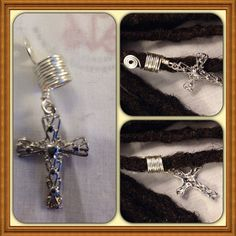 Cross Silver Wire Wrapped Hoop Dreadlock Beads Dread Locs Braids Twist Hair Jewelry Coils Accessories on Etsy, $4.00