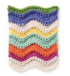 DIY: rainbow chevron crochet