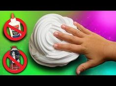 Fluffy Slime without Glue or Shaving Cream! DIY Fluffy Slime How To/ NO BORAX - YouTube