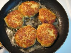 Fried Zucchini Cakes, uses 2 C shredded Zucch.,1/2C Seasoned Bread Crumbs, 1/4 C Italian Blend cheese, 1/2 Tb minced garlic, 1 egg. Mix fry. serve with Ranch Dressing  ***Reduce bread crumbs and switch with Parmesan cheese and it could be low carb.