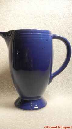 VERY RARE Blue Fiesta Ware Pitcher by 17thandnewport on Etsy, $44.99