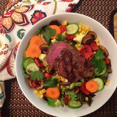 Looking for some awesome salad ideas? Check out this photo gallery with tons of ideas and recipes for healthy salads piled high with veggies, proteins, and homemade dressings and vinaigrettes! Yum! #EatTheRainbow http://theweeklymenubook.com/2015/04/16/salad-love-photo-gallery-eattherainbow/