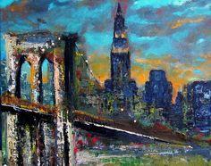 The Brooklyn Bridge Painting - The Brooklyn Bridge Fine Art Print