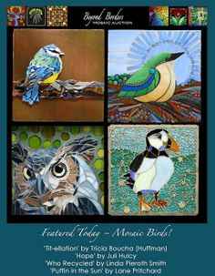 Today's Auction Feature: Mosaic Birds! via Flickr