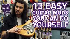 Dagan shows us 13 essential guitar modifications that can improve the sound and feel of your guitar. Read more about essential guitar mods and set up tips he. Music Guitar, Guitar Chords, Guitar Amp, Stratocaster Guitar, Cheap Guitars, Easy Guitar, Guitar Accessories, Guitar For Beginners, Guitar Strings