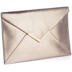 Simply Be Metallic Envelope Clutch Bag ($33) ❤ liked on Polyvore featuring bags, handbags, clutches, rose gold, metallic handbags, pink purse, envelope clutch, envelope clutch bag and pink clutches