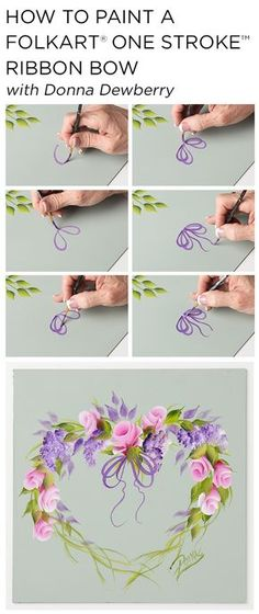 """Learn how to paint a beautiful rosebud wreath using a small palette of FolkArt Multi-Surface Acrylic paints and just a few brushes with Donna Dewberry's acclaimed """"One Stroke Painting"""" technique."""