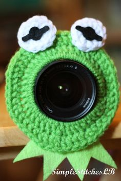 Kermit the Frog Camera Lens Buddy by SimpleStitchesLB on Etsy, $7.00