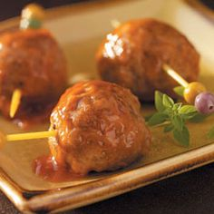 AWESOME Pineapple Appetizer Meatballs. Will make again! Recipe  1 can (8 ounces) crushed pineapple  1 egg  1/4 cup dry bread crumbs  1/8 teaspoon pepper  1/2 pound bulk pork sausage  1/2 pound ground beef  GLAZE:  1/4 cup packed brown sugar  1/4 cup ketchup  1/4 cup white vinegar  1/4 cup water  2 tablespoons Dijon-mayonnaise blend