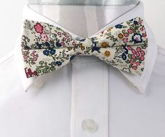 Amedeo Exclusive Beige Pink Green Floral Bow Tie Adjustable Free Shipping | eBay