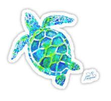 Sea Turtle no splots by Jan Marvin Sticker