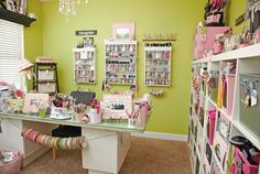 Margie Romney-Aslett's craft room