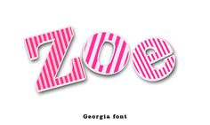 Items similar to Wooden Letters Pink Stripe-This listing is for 3 letters - See other wooden letters photos in pink stripe theme on Etsy Wooden Wall Letters, Letter Wall, Wooden Walls, Pink Stripes, Pink Dot, Blue And White, Pink Black, Kids Room, Dots