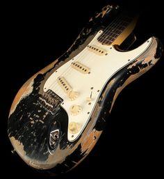 Fender Custom Shop Exclusive Masterbuilt '69 Stratocaster Ultimate Relic Electric Guitar Black