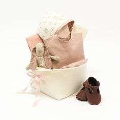 e020ea84a00d One of a kind Baby Girl Gift Basket - Mon Bebe – Bonjour Baby Baskets -