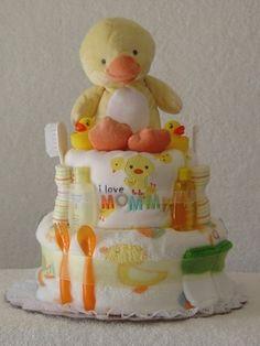 duck diaper cake