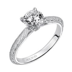 "Artcarved ""Imani"" Diamond Solitaire Four Prong Engagement Ring Featuri · 31-V498ERW · Ben Garelick Jewelers"