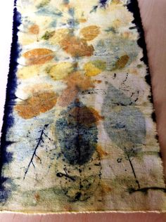 Eco print on cotton by Marilyn Stephens Artist
