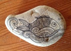 painted stone complement home decor gift