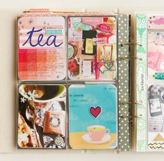 Mon Project Life 2014 - Février (la suite) !  Love the way she covered the page edges-  good way to use my stash of Washi tape!