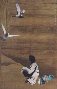 """""""Take these broken wings and learn to fly"""". handmade collage by papiertänzerin."""