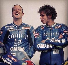 Ed and Val Colin Edwards and Valentino Rossi