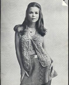 Vintage Shell Stitch Vest Pattern  pdf by suerock on Etsy, $3.99