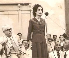 Former President Agatha Barbara at the very start of her political career (middle to late Next to her is former PM Sir Paul Boffa. Malta History, Malta Island, Sir Paul, Former President, Politicians, Maltese, Christmas Ideas, Presidents