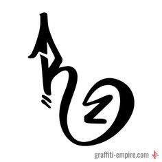 R Graffiti Tag Letter | Graffiti Lettering by Graffiti Empire